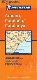 Aragon, Cataluna - NE Spain Travel Map by Michelin