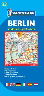 Berlin Street Map by Michelin