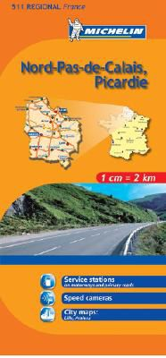 Nord-Pas-de-Calais, Picardie Regional Map, 511 by Michelin