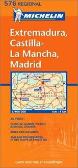 Extremadura - Central Spain Travel Map by Michelin