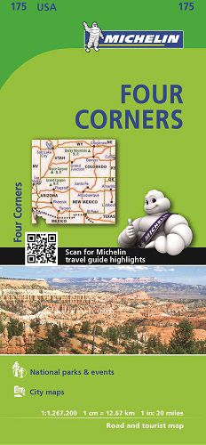Four Corners Regional Map l Michelin