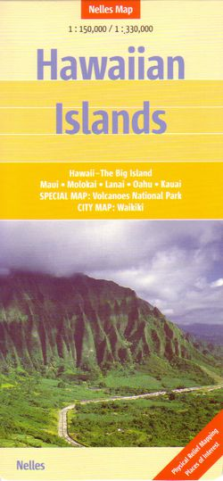 Hawaiian Islands Travel Map by Nelles