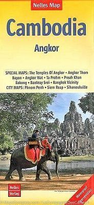 Cambodia - Angkor Travel Map by Nelles