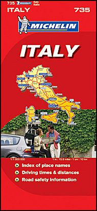 Italy Travel Map by Michelin