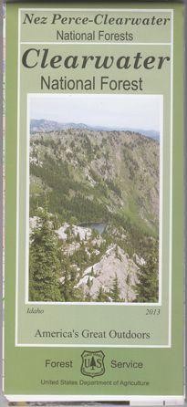 Clearwater National Forest Map - ID