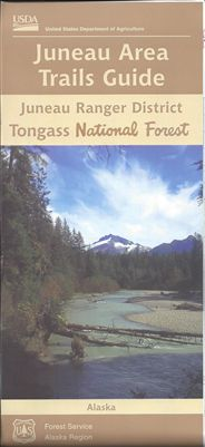 Juneau Area Trail Guide Forest Service Map - AK