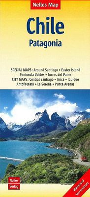 Chile - Patagonia Travel Map by Nelles