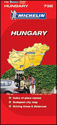 Hungary Travel Map by Michelin