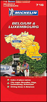 Belgium & Luxembourg Travel Map by Michelin
