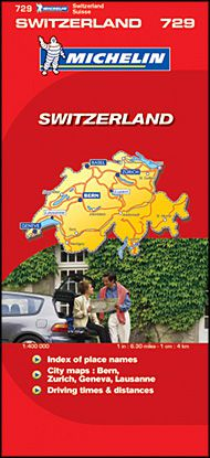 Switzerland Travel Map by Michelin
