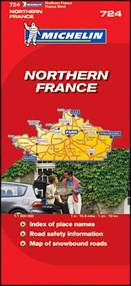 Northern France Road Map by Michelin