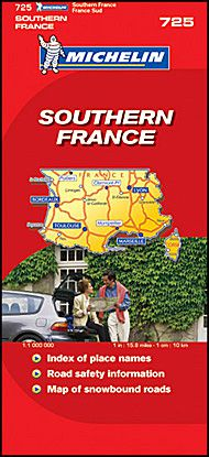 Southern France Road Map by Michelin
