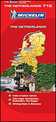 Netherlands Travel Map by Michelin
