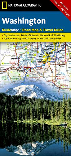 Washington State Road & Guide Map