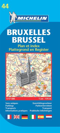 Brussels Street Map by Michelin