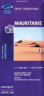 Mauritania Travel Map by IGN