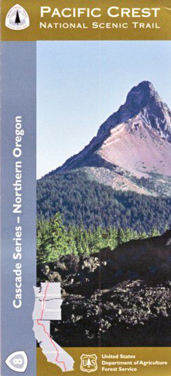 Pacific Crest National Scenic Trail Map - Northern Oregon Cascades - OR