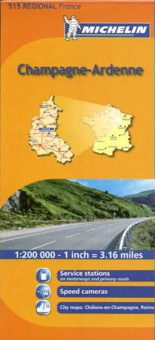 Champagne-Ardenne Regional Map, 515 by Michelin