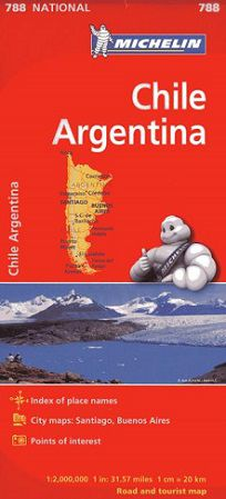 Chile & Argentina Road Map by Michelin