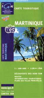Martinique Travel Map by IGN