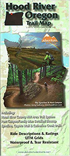 Hood River Trail Map by Adventure Maps
