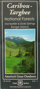 Caribou-Targhee National Forest Map (Montpelier Ranger District) - ID
