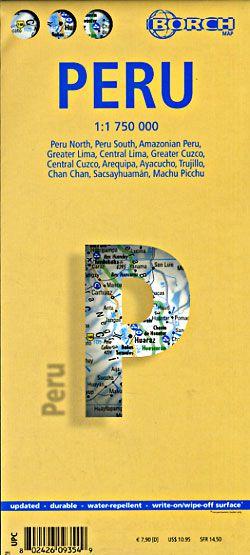 Peru Travel Map by Borch