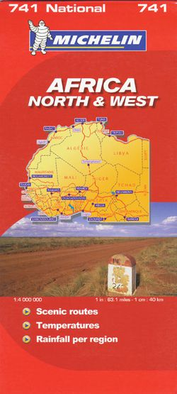 Africa NW Travel Map by Michelin