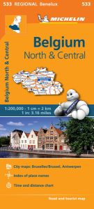 Belgium Central & North Travel Map by Michelin