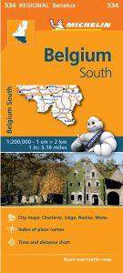 Belgium South Travel Map by Michelin