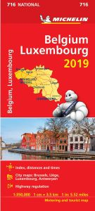 Belgium Luxembourg Travel Map l Michelin