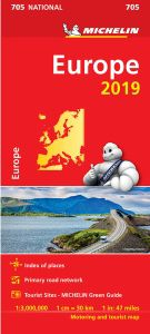 Europe Travel Map by Michelin