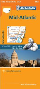 Mid-Atlantic- Allegheny Highlands Map by Michelin