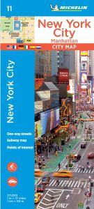 New York City - Manhattan Map by Michelin
