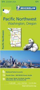 Pacific Northwest Regional Map by Michelin - WA, OR