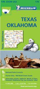 Texas & Oklahoma Regional Map by Michelin - TX, OK