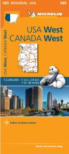 Western U.S. Road Map by Michelin