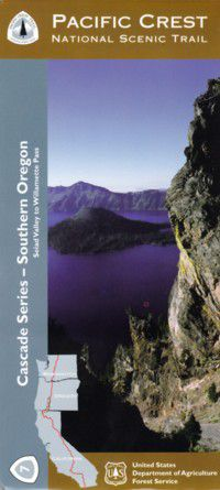 Pacific Crest National Scenic Trail Map - Southern Oregon Cascades - OR