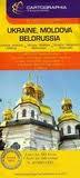 Ukraine, Moldova & Belorussia Travel Map by Cartographia