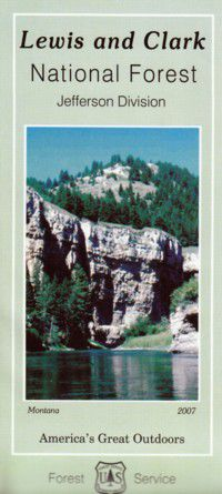 Lewis & Clark National Forest Map, Jefferson Division
