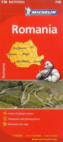 Romania Travel Map by Michelin