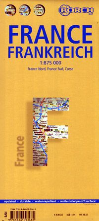 France Travel Map by Borch