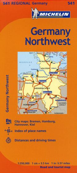 Map Of North West Germany.Michelin Germany Northwest Regional Map 541