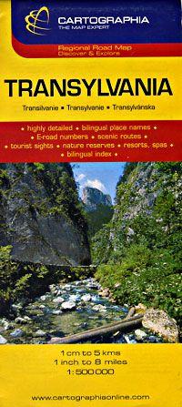 Transylvania Travel Map by Cartographia