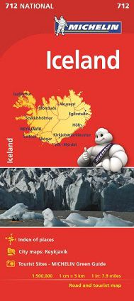 Iceland Travel Map by Michelin