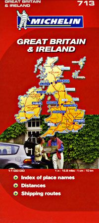 Great Britain & Ireland Travel Map by Michelin