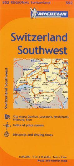 Switzerland Southwest Travel Map by Michelin