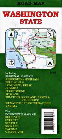 Washington State Road Map Travel Map Of Washington State