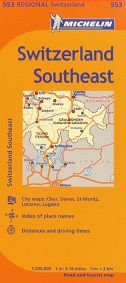 Switzerland Southeast Travel Map by Michelin