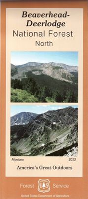 Beaverhead - Deerlodge National Forest Map - North Region - MT